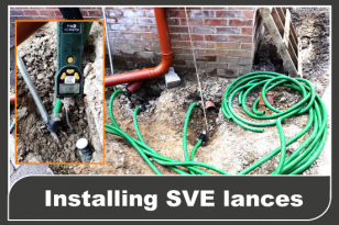 RSK Raw install SVE lances under a house